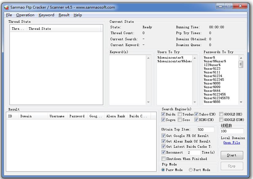 Original Software] Sanmao Ftp Cracker / Scanner | SanmaoSoft