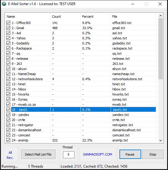 EMail Sorter v1.6